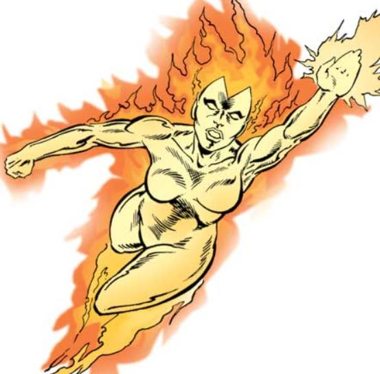 Female human torch