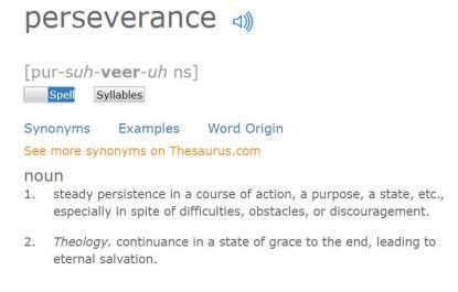 perseverance